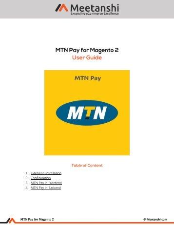 Magento 2 MTN Pay