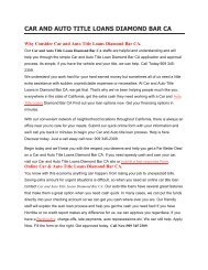 Get Auto Title Loans Diamond Bar CA | 909-345-2309