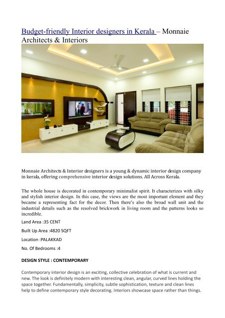 Budget Friendly Interiors In Kerala Converted