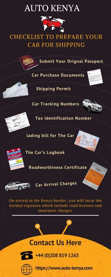 Checklist for Shipping a Car to Kenya from UK | Infographic