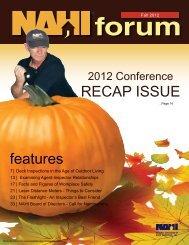 Fall Forum 2012 - NAHI