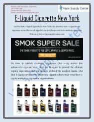 E-Liquid Cigarette New York - Vape Supply Center