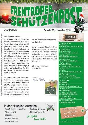 Schützenpost November 2018