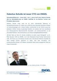 Hubertus Schulte ist neuer CTO von ENGEL - Engel Austria