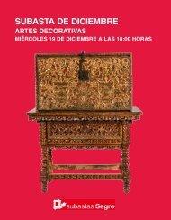 Subasta Artes Decorativas Diciembre 2018