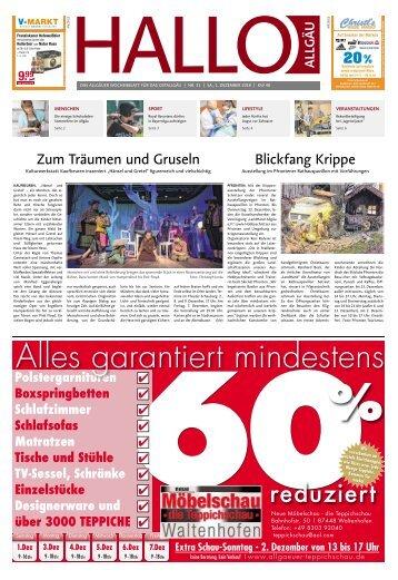 Hallo-Allgäu Kaufbeuren, Ostallgäu vom Samstag, 01.Dezember