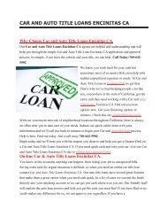 Ezee Auto Car Title Loans Encinitas CA | 760-642-5502