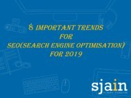 8 Important Trends for SEO(Search Engine Optimisation)