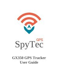 SpyTec GX350 GPS Tracker User Guide