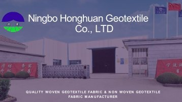 Geotextile Reinforcement Fabric Products