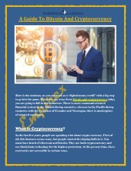 A Guide To Bitcoin And Cryptocurrency