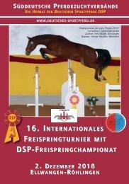 16. Internat. Freispringturnier mit DSP-Freispringchampionat