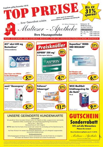 Angebote Malteser Apotheke Nürnberg