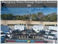 Emergency Water Damage Repair in Durham NC