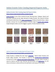 Indian Granite Color Catalog Imperial Exports India