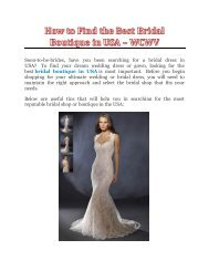 How to Find the Best Bridal Boutique in USA - WCWV