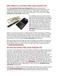 Get Auto Title Loans Anaheim CA | 714-215-9720