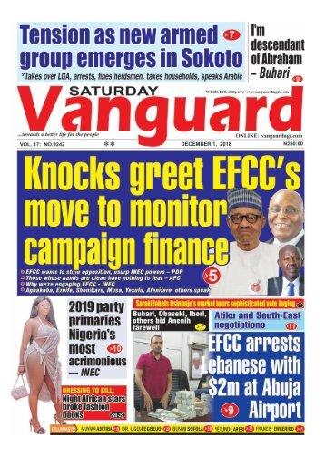 01112018 - 2019: Knocks greet EFCC's move to monitor campaign finance