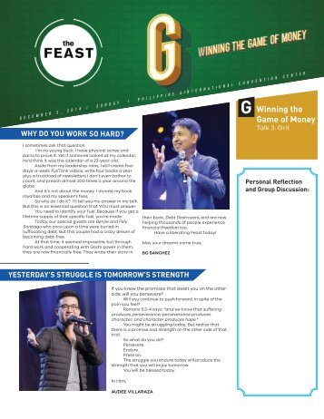 Feast Bay Area Morning Bulletin for December 2, 2018