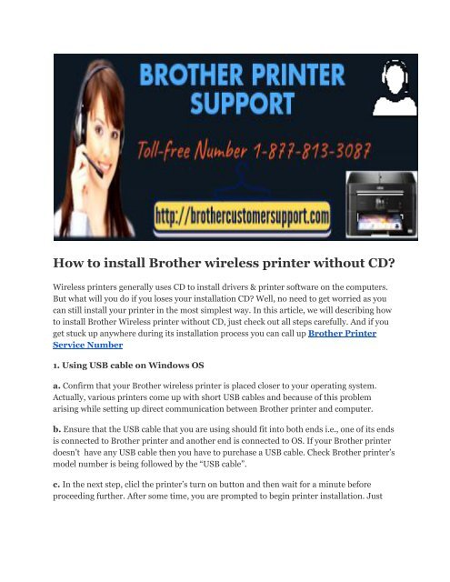 install brother printer driver without cd