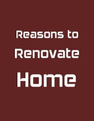 Reasons  To Renovate Home