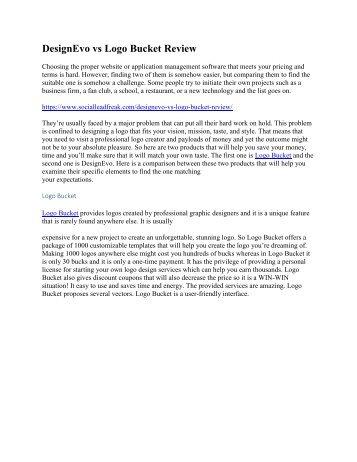 DesignEvo vs Logo Bucket Review