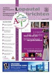 Lopautal Nachrichten 08/2009 - Amelinghausen