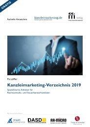 Kanzleimarketingverzeichnis 2019 -  Spezialisierte Anbieter für Rechtsanwalts- und Steuerberaterkanzleien