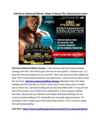 G10 Force Advanced Blend : Make Your Body keep And Perfectly Strong