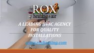 A Leading HVAC Agency for Quality Installation