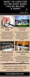 Consider Proper Ventilation System of the Roof | Alpha Rain
