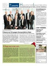 Hallesche Immobilienzeitung Ausgabe 79 Dezember/Januar 2018 immoHAL