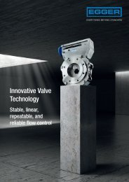 Egger Iris Diaphragm Control valve for stable, linear and reliable flow control of aeration tanks