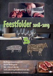 Feestfolder 2018 - 2019