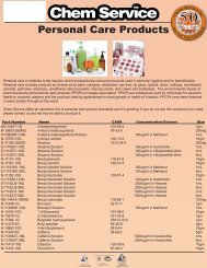 Chem Service Personal Care Certified Reference Standards