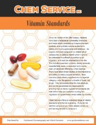 Chem Service Vitamin Certified Reference Standards