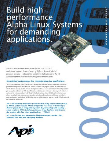 Build high performance Alpha Linux Systems for ... - MikeRoHard