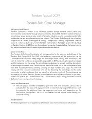 TF19 - Tandem Skills Camp Manager