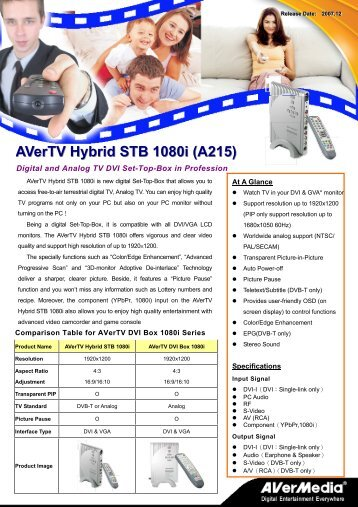 AVerTV Hybrid STB 1080i (A215) - Medium