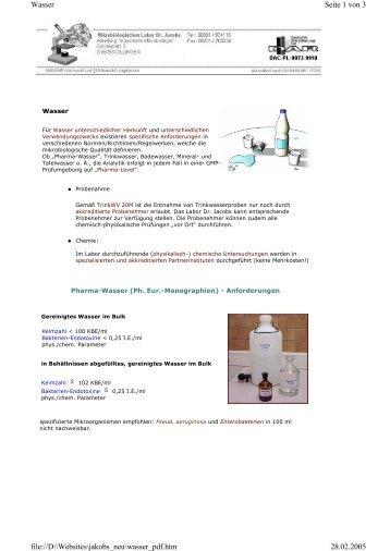 Seite als PDF speichern / drucken - Mikrobiologisches Labor Dr ...