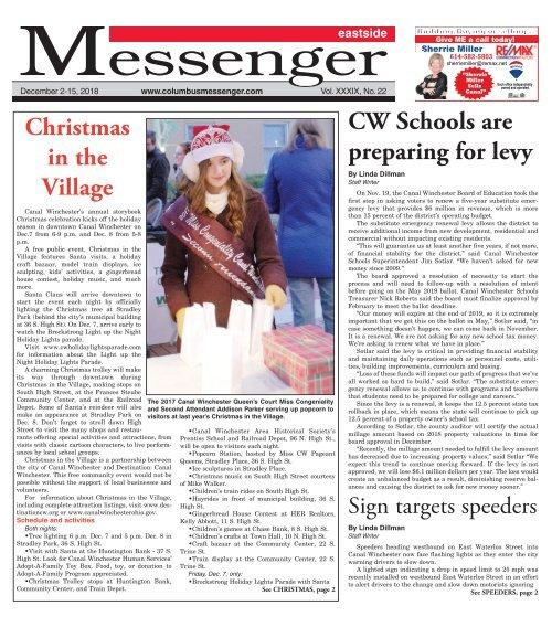 Eastside Messenger - December 2nd, 2018