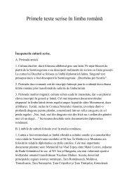 Primele texte scrise în limba română