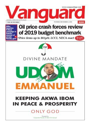 03122018 - Oil price crash forces review of 2019 budget benchmark