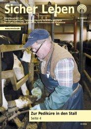 Sicher Leben 6 / 2008 - Die Landwirtschaftliche Sozialversicherung