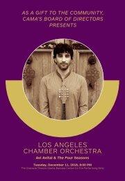 CAMA's Centennial Season—December 11, 2018—Free Community Concert—Los Angeles Chamber Orchestra—Avi Avital, mandolin—The Granada Theatre, 8:00 PM