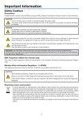 Portable Projector PA600X/PA500X/ PA550W/PA500U User's Manual - Page 3