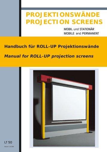 Installation: Handbuch ab Format 220cm Breite