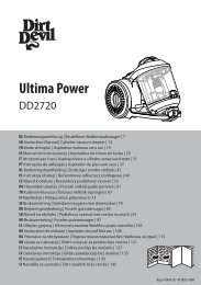 Dirt Devil Ultima Power - Bedienungsanleitung für den Dirt Devil Ultima Power DD2720-1,-2,-3,-4,-5