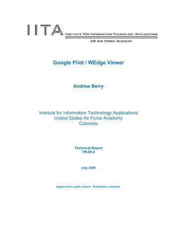 Google Pilot / WEdge Viewer - United States Air Force Academy