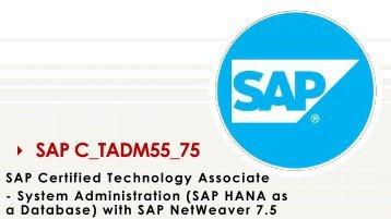 SAP C_TADM55_75 Exam VCE Questions Dumps
